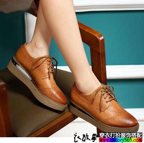 镂空雕花休闲单鞋