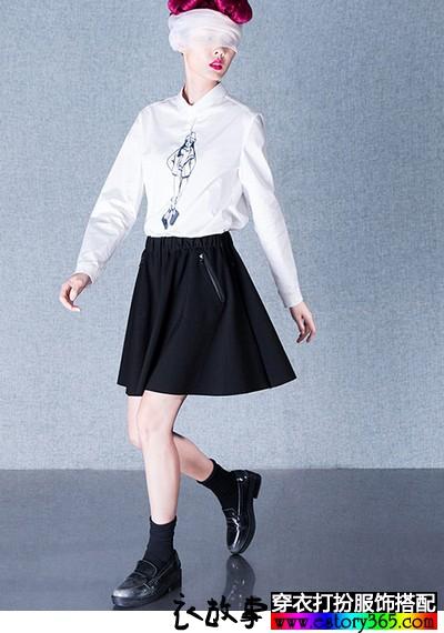 POLO领人物图案纯棉衬衫