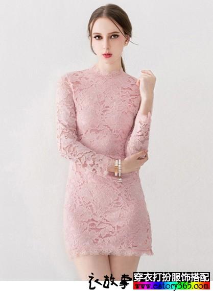小高领名媛范蕾丝衫