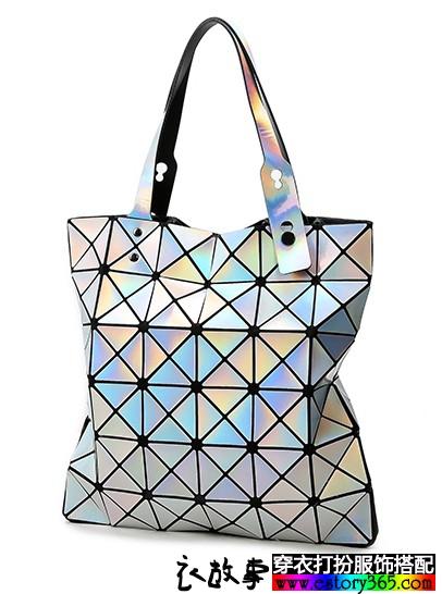 几何菱格纹包包