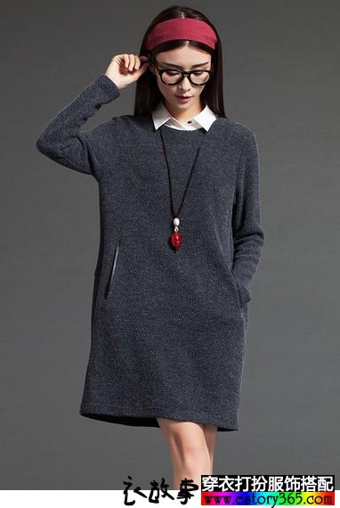优雅气质针织裙