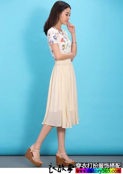 大码雪纺半身长裙