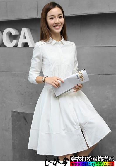 十字绣纯棉衬衫裙