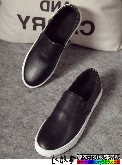 一脚蹬圆头乐福鞋