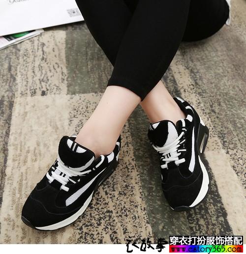 黑白休闲运动跑鞋