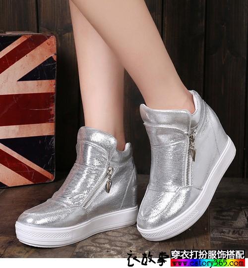 内增高厚底单鞋