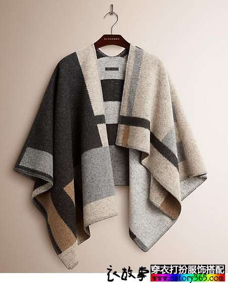 大牌印花羊毛披肩围巾