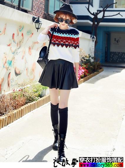 时尚的秋款几何图案衣服搭配