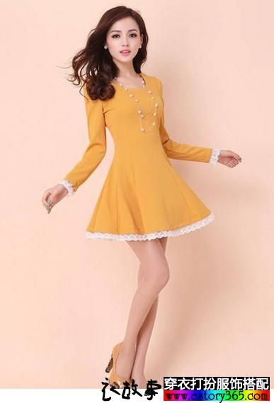 复古气质蕾丝连衣裙