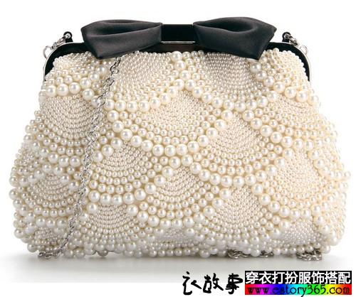 钉珠蝴蝶结包包