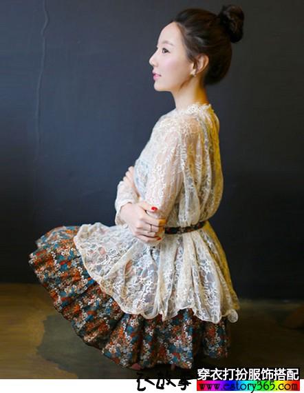 幸福的味道,神秘的蕾丝,秋款蕾丝衣服搭配