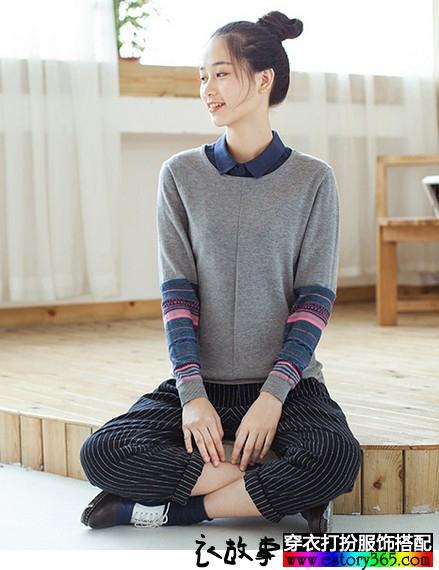 简约民族风针织衫
