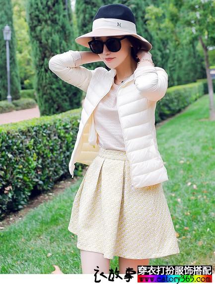 纯色立领超轻薄羽绒服