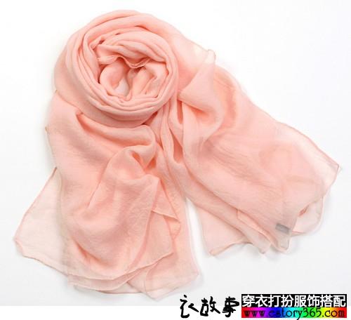 纯色雪纺丝巾