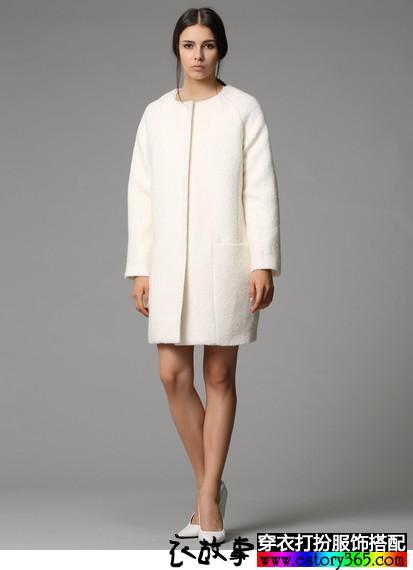 欧美风茧型羊毛呢外套