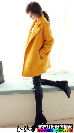 中长款羊毛呢外套