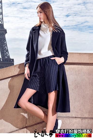 新款廓型长款羊毛呢大衣