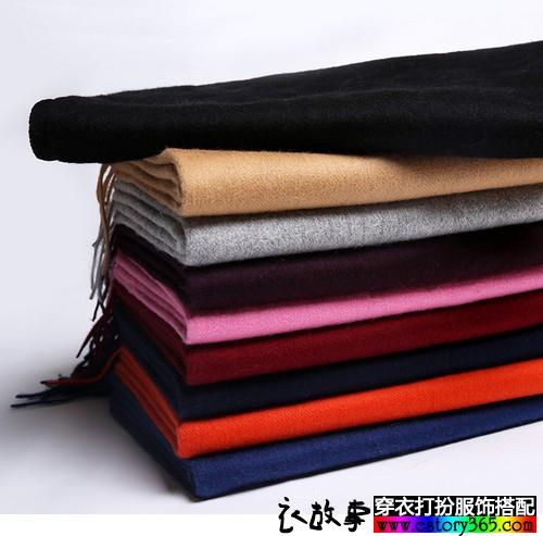 纯色羊毛围巾