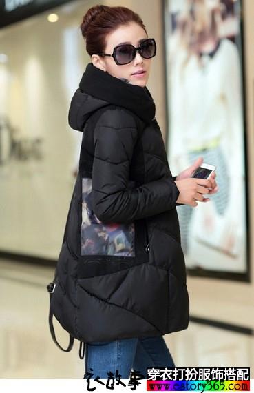 照片印花韩版棉服
