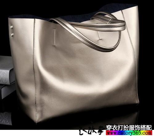 纯色单肩手提包包