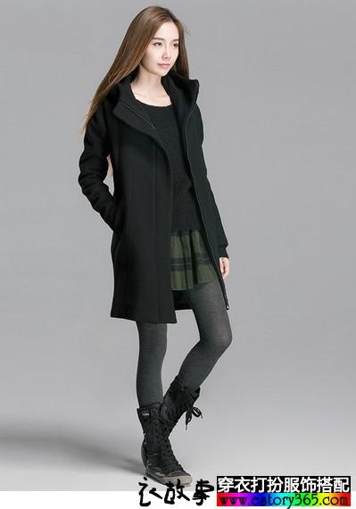 欧美风宽松版羊毛混纺大衣