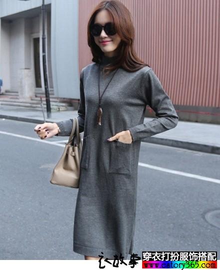 宽松直筒针织裙