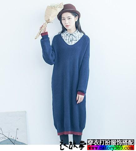 日系宽松针织毛衣