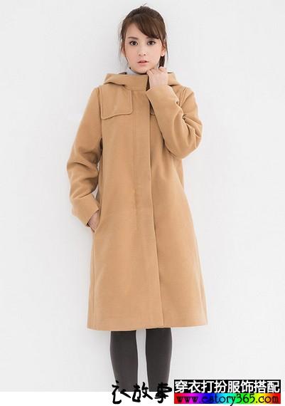 时尚复古中长款外套