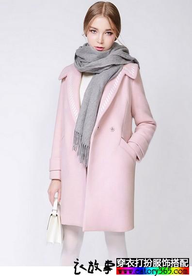 刺绣长款毛呢大衣