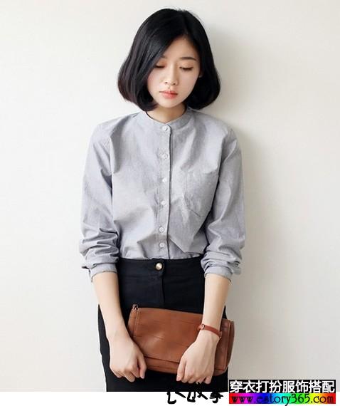 纯色立领加绒加厚衬衫