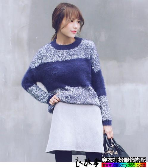 冬天里很有味道的蓝色衣服
