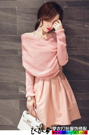 毛衣连衣裙两件套
