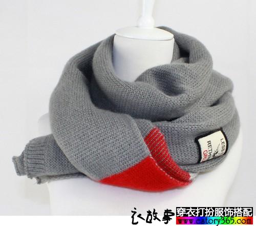 情侣毛线围巾