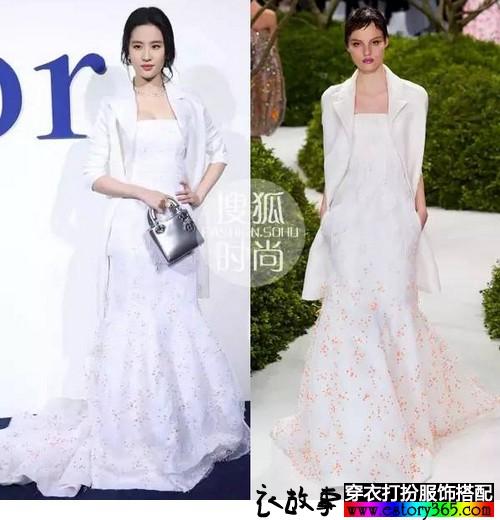 向刘亦菲学搭配,用白色衣服衬托自己的美
