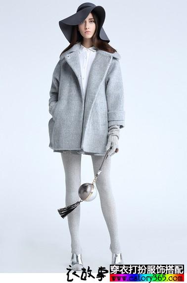 女人如花,花开一冬,毛呢大衣搭配