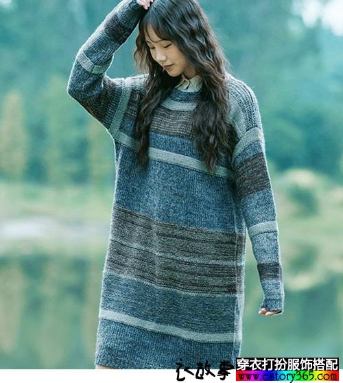 宽松套头针织毛衣