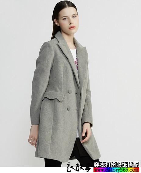 羊毛中长呢子外套