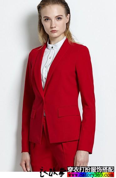 青果领西装短外套