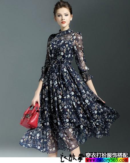 女人味,春天裙子飘逸