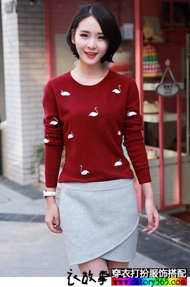甜美山羊绒衫