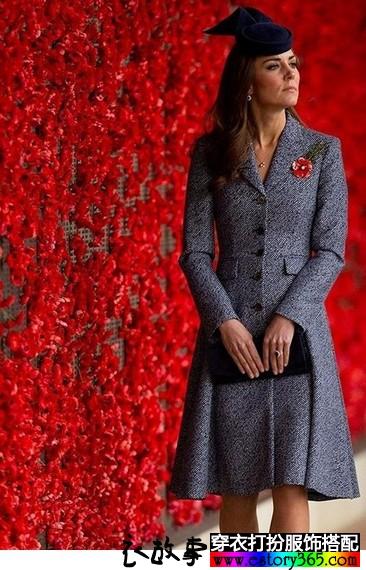 凯特王妃穿裙式大衣,你也可以学她一样搭配