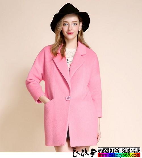 韩版中长款毛呢外套