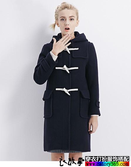 纯色中长款修身羊毛大衣