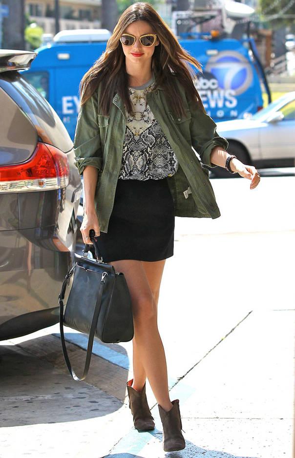 短靴如何搭配?看模特刘雯、米兰达·可儿、肯豆Kendall Jenner为你示范短靴搭配