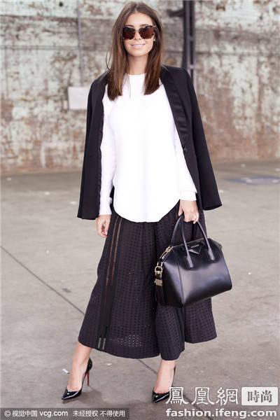 今年最时髦的搭配风格就是只穿一种颜色