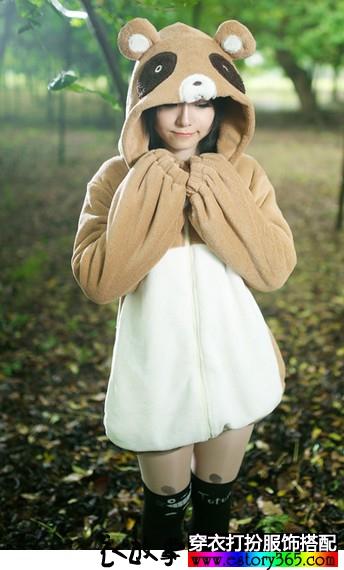 珊瑚绒狸猫卫衣