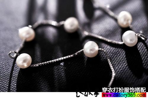 淡水珍珠锁骨项链