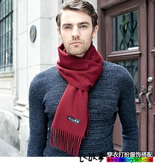 长方形流苏羊绒围巾搭配
