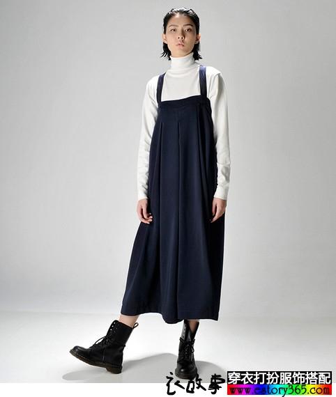 两穿高腰阔腿裙裤