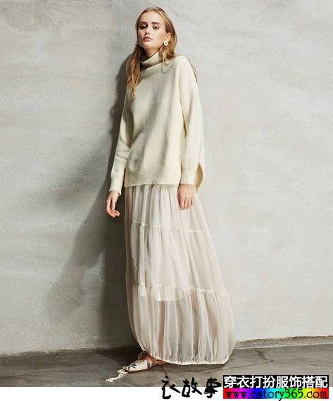 设计感复古灯笼裙